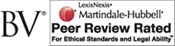 BV - LexisNexis | Martindale-Hubbell | Peer Review Rated for Ethical Standards and Legal Ability